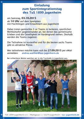 Sportintegrationstag 2015